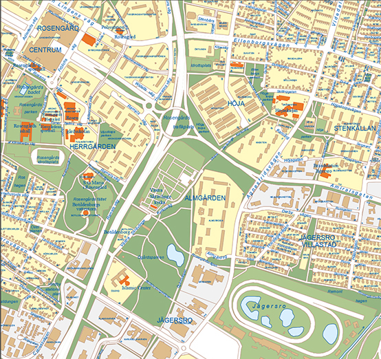Stadskarta Malmo Stad