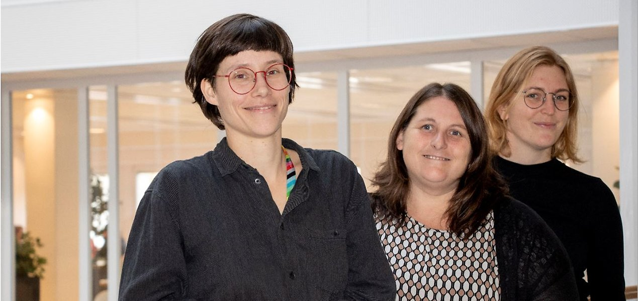 Kerstin Rüther, Sofie Persson och Ida Lindström